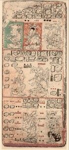 Page from Precolumbian Mayan Dresden Codex (Wikipeida)