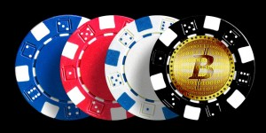 Bitcoin - poker chip